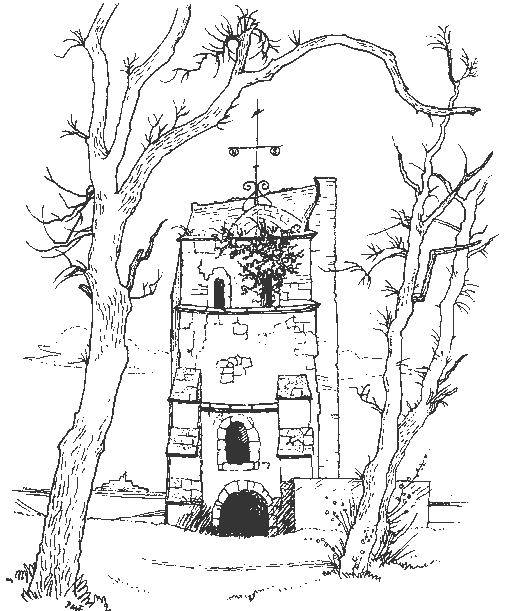 Sketch of Old St Helen's Church on the Duver