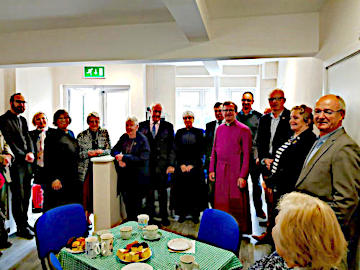 Photograph at Official Opening of St Peter's Undercroft 5 May 2019