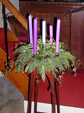 Photograph of St Helen's Advent Wreath 2017