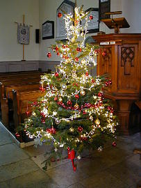 Photograph of St Helen's Christmas Tree 2016