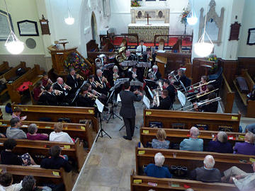 Photograph of Vectis Brass Harvest Concert at St Helen's 24 September 2016 - 1