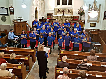 Photograph of St John's Newport Choir Concert at St Helen's 13 October 2018