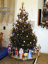 Photograph of St Peter's Christmas Tree 2016