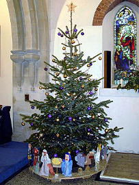 Photograph of St Peter's Christmas Tree 2017