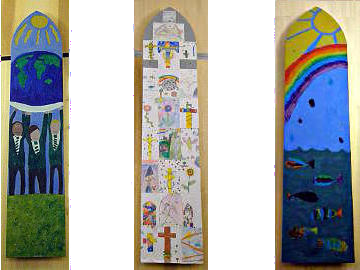 Photographs of St Peter's Decorations by Classes 2, 4, and 6 of Nettlestone School