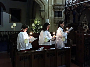 Photograph of St Peter's Christingle Service 24 December 2018