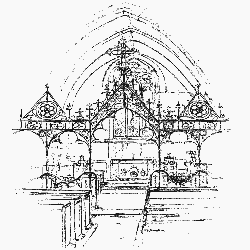 Drawing of St Peter's Wrought Iron Chancel Arch Screen