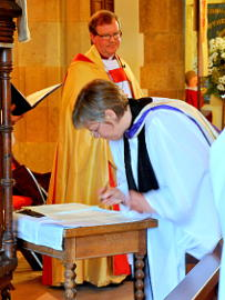 Photograph of the Licensing of the Revd Alison Morley 15 April 2018 - 2