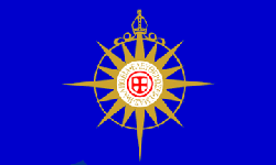 Depiction of the Flag of the Anglican Communion