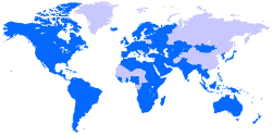 Map of the Worldwide Anglican Communion