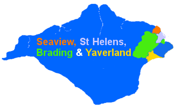 Drawing Showing the locations of the Anglican Parishes of Seaview, St Helens, Brading & Yaverland on the Isle of Wight