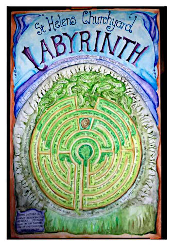 St Helen's Labyrinth  Poster