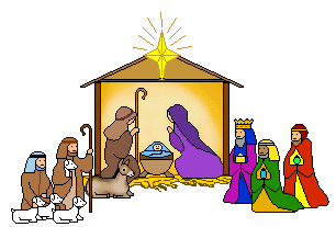Depiction of the Nativity of Jesus with Shepherds and Magi