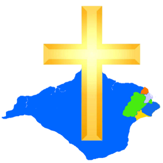 Graphic showing the location of the parishes of The Haven Churches in the north-east of the Isle of Wight