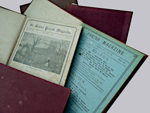 Photograph of Past Editions of parish News