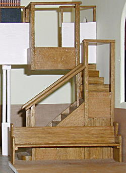 Photograph of model of Church showing new stairs