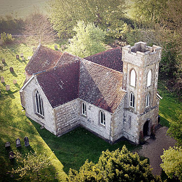 Aerial View of St Helen's Church