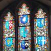 142 St Mary's - Easternmost Heraldic Window Oglander Chapel